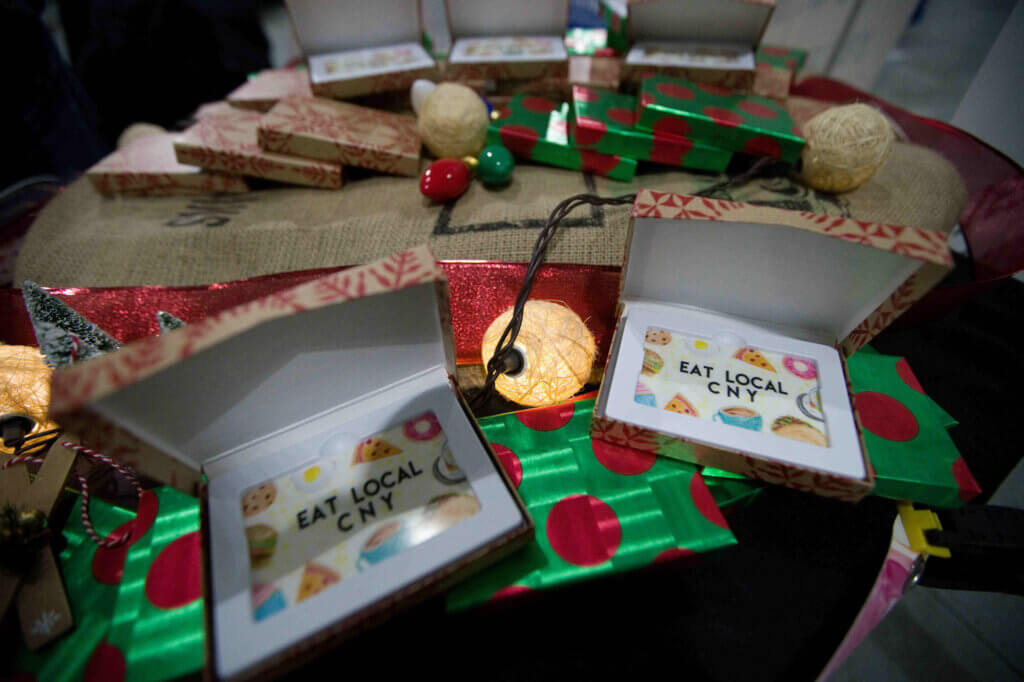 Cards for sale at the Buy Local Bash