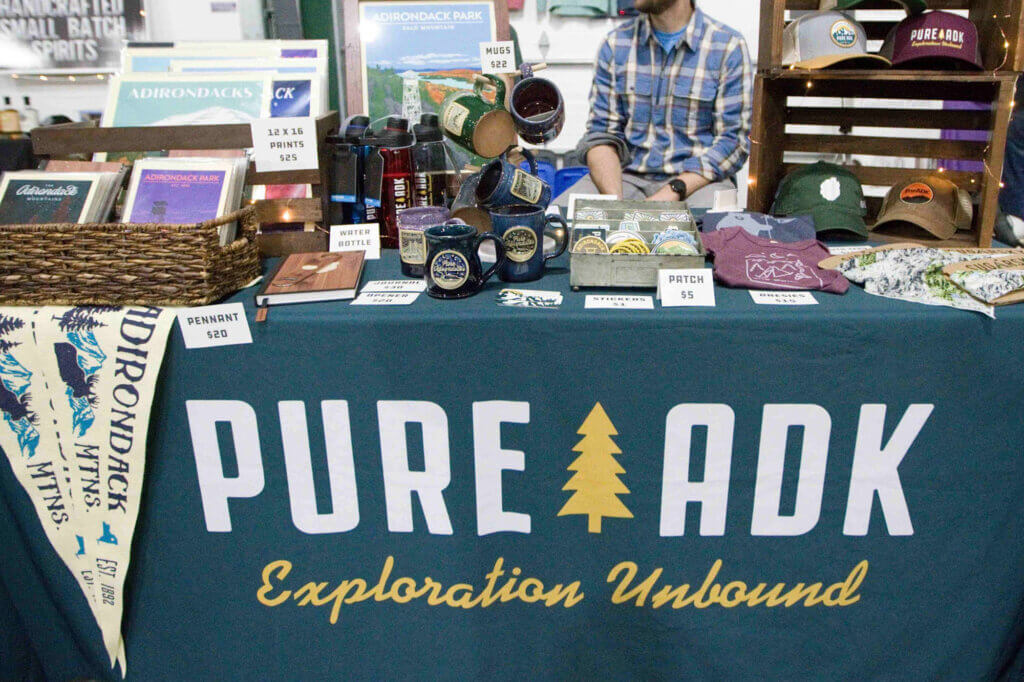Pure Adirondacks merchandise for sale at the Buy Local Bash