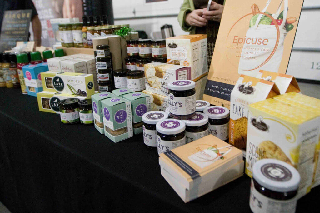 Products for sale at the Buy Local Bash