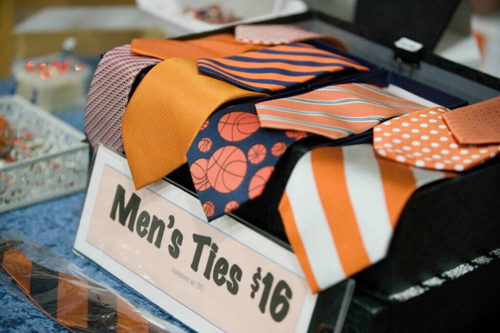 Orange Ties for sale at the Buy Local Bash